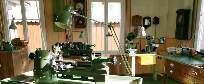 Maschinen Werkstatt des Uhrmachers Ueli Zürcher