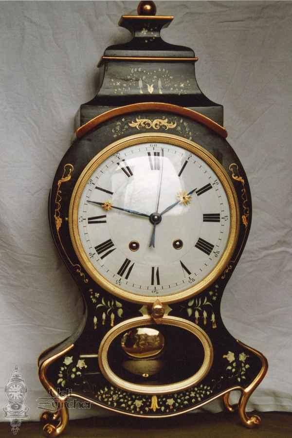 Sumiswalder Pendule mit Sekundenzeiger 19. Jahrhundert - Fotoaufnahme 24.01.2005