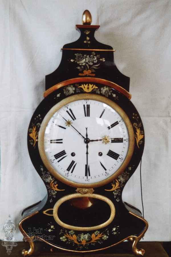 Sumiswalder Pendule mit Wecker 19. Jahrhundert - Fotoaufnahme 06.03.2012