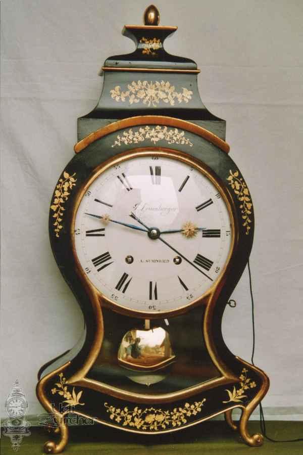 Sumiswalder Pendule von J. Leuenberger mit Wecker - Fotoaufnahme 04.04.2005