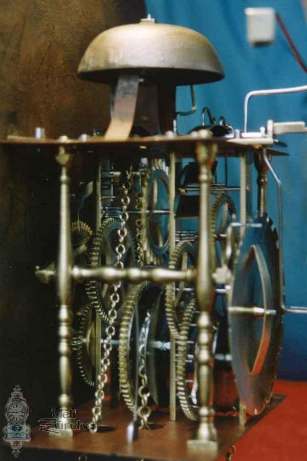 Uhrwerk einer holländischen Wanduhr - Fotoaufnahme 26.01.2004