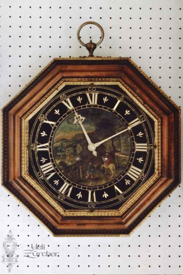 Wanduhr mit Sumiswalder Uhrwerk aus dem 19. Jahrhundert - Fotoaufnahme 06.03.2012